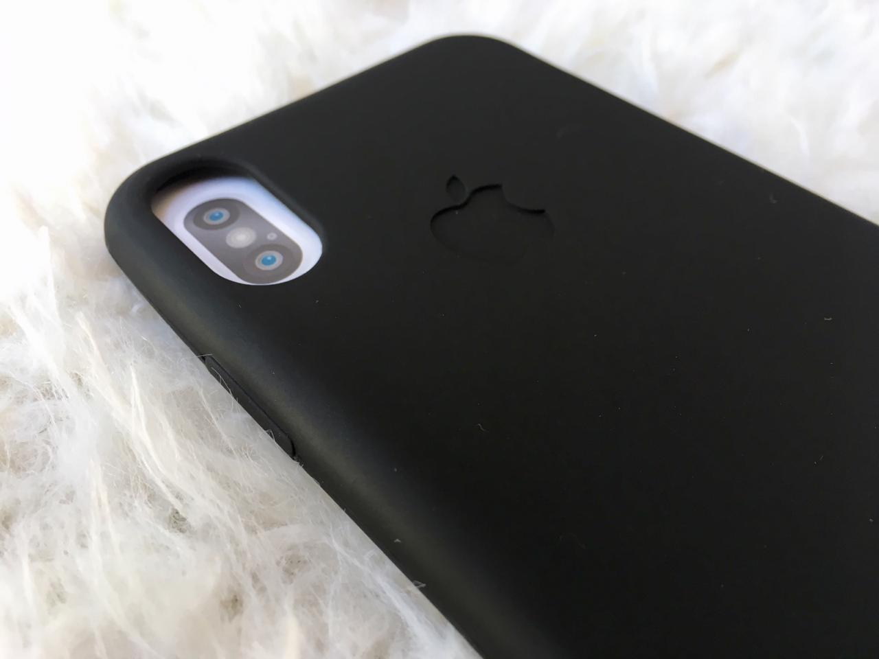Capa para iphone x - silicone flexivel preta