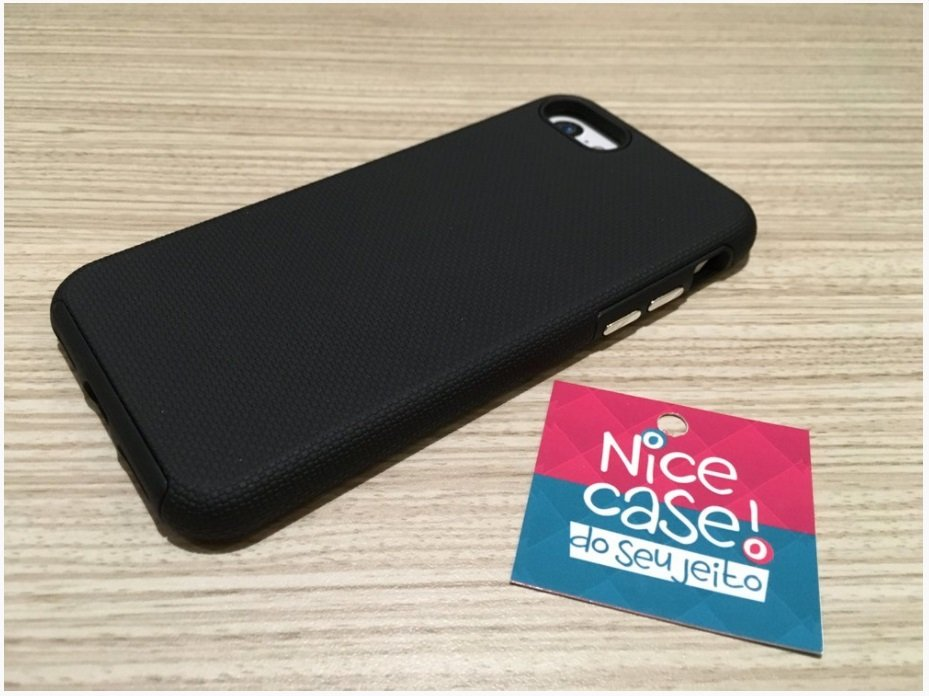 Capinha para iPhone 7 - Anti Impacto - Combo Case Black