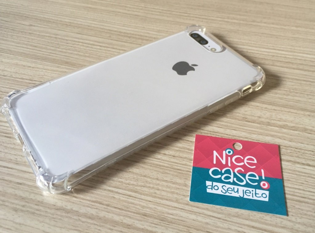 Capinha para iPhone 7 Plus -Anti Impacto Transparente