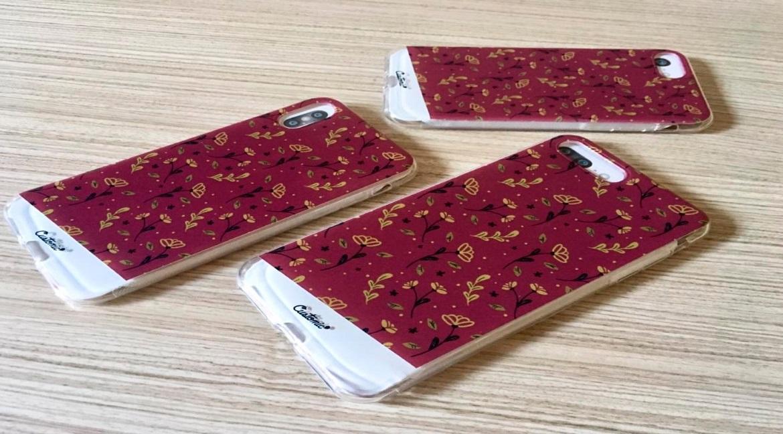 Capinha para iPhone Xs - Feminina - Golden Roses