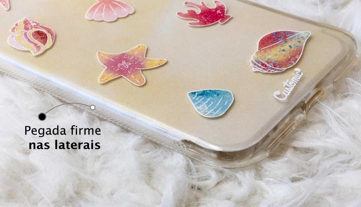 Capinha para iPhone 6s Plus - Feminina - Conchas do mar