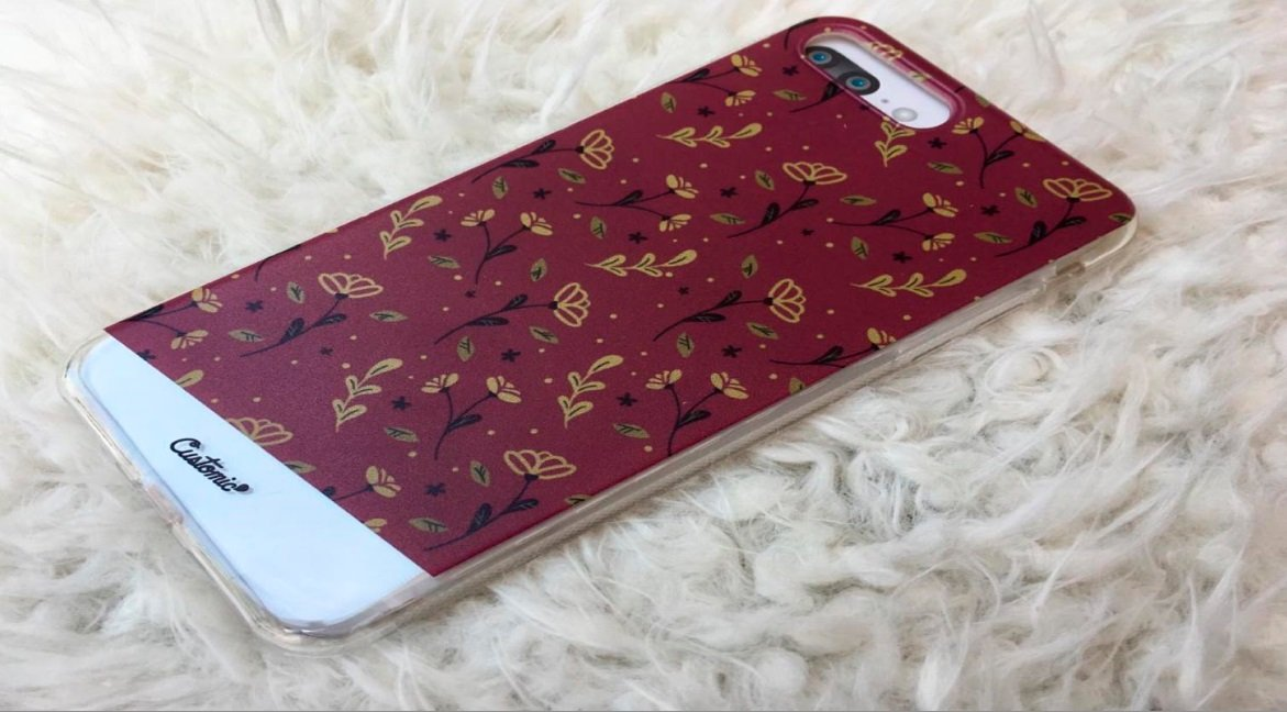 Capinha para iPhone 6s Plus - Feminina - Golden Roses