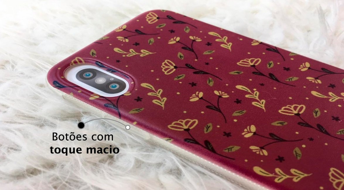 Capinha para iPhone 6s Plus - Feminina - Golden Roses