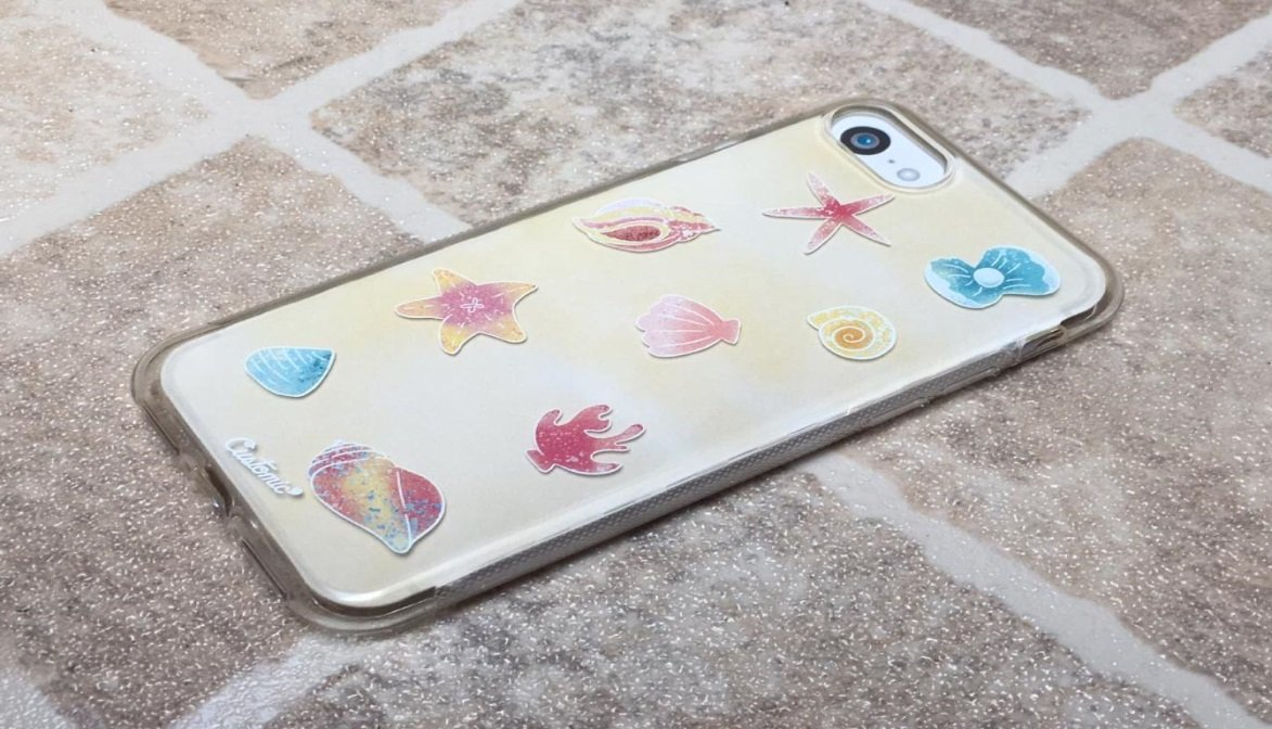 Capinha para iPhone 8 - Feminina - Conchas do mar
