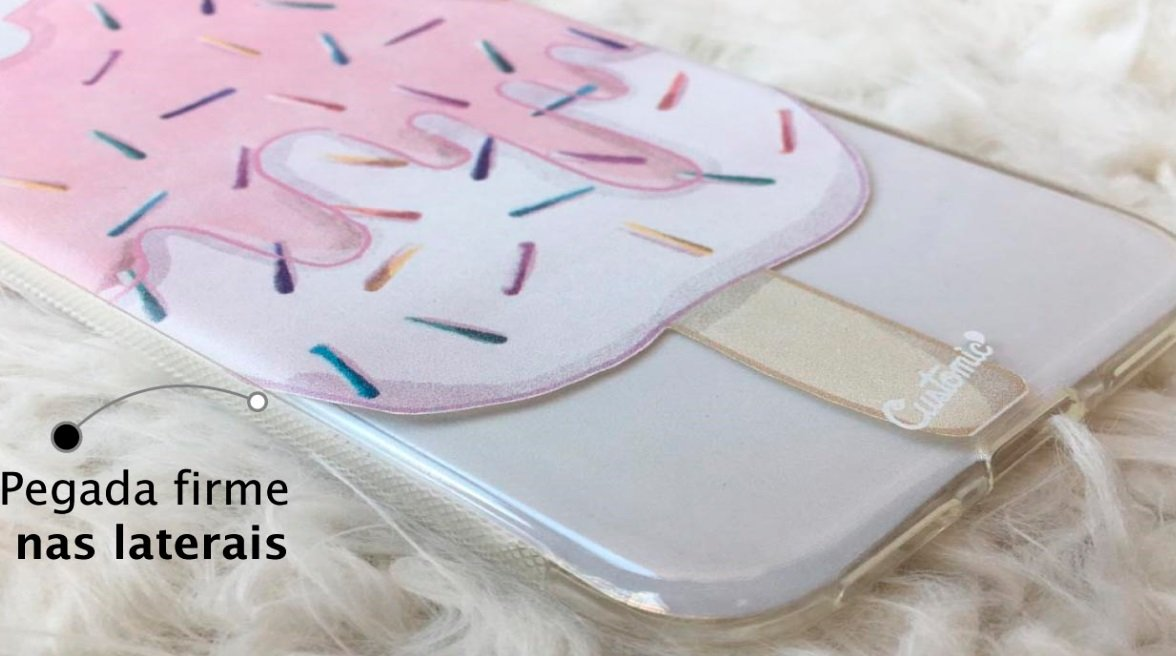 Capinha para iPhone 8 - Feminina - Geladinho