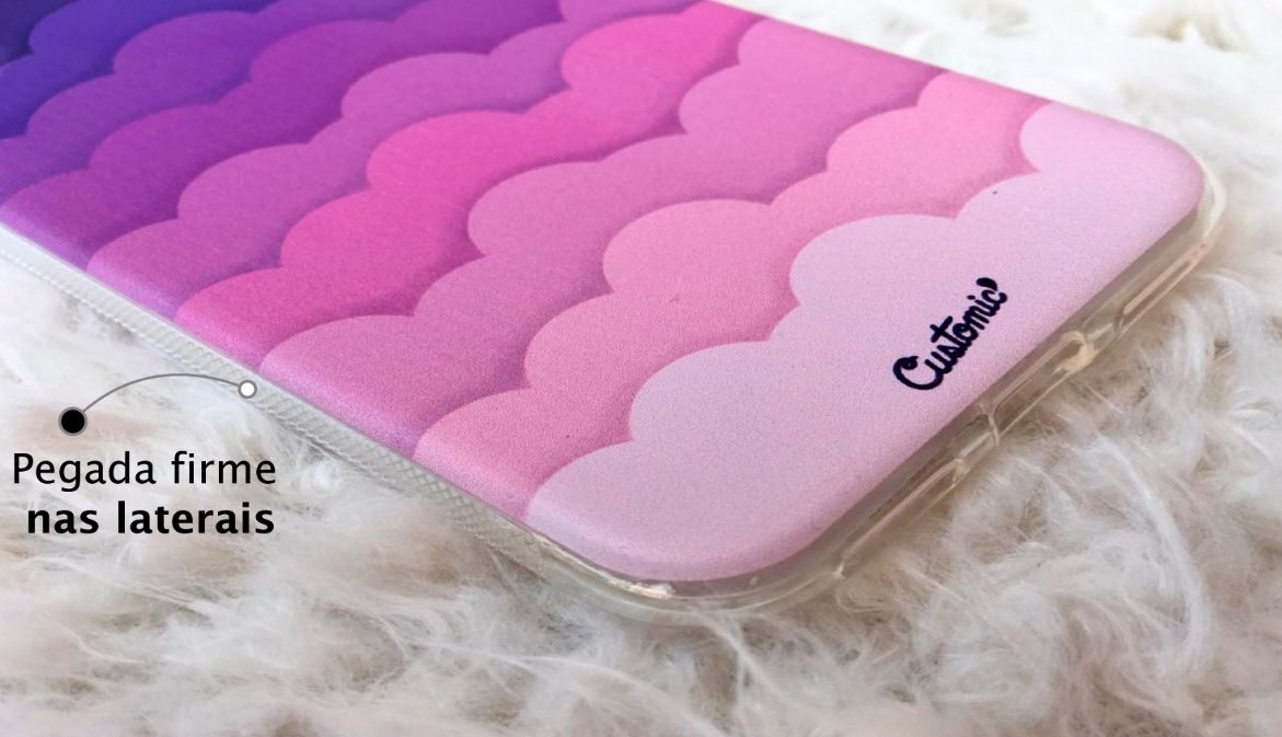 Capinha para iPhone 8 - Feminina - Pink Clouds