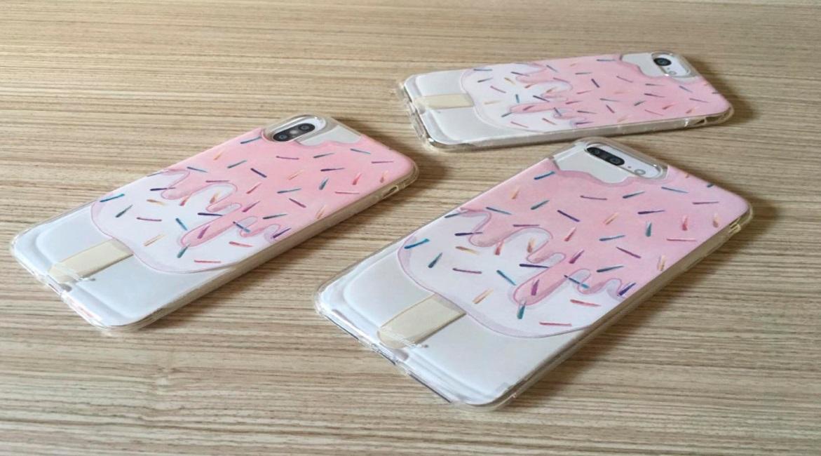 Capinha para iPhone 8 Plus - Feminina - Geladinho