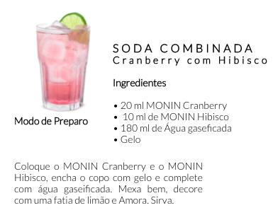 Receita Monin Cranberry Locafé