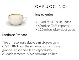 Receita Monin Baunilha Locafé