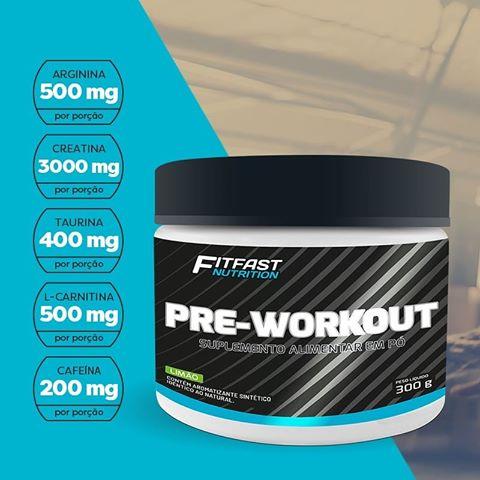 179d77ca2 Pre-Workout - (300g) - Pré-Treino - Fit Fast Nutrition