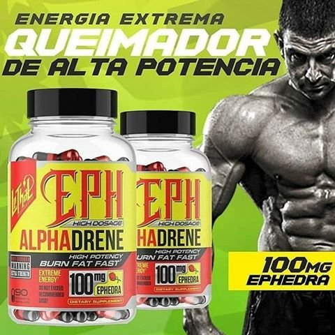 Alphadrene Termogênico - (90 caps) -  Lethal Supplements