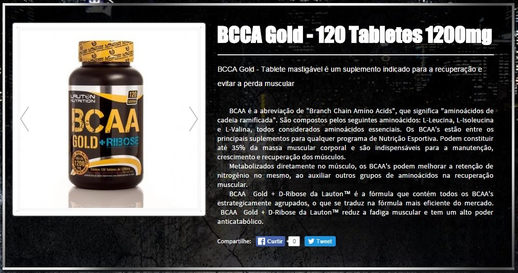 BCAA Gold + Ribose (120tabs) - Lauton Nutrition