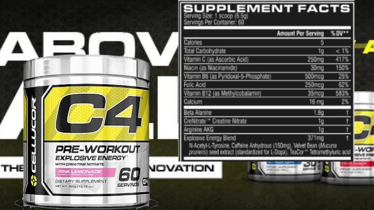 C4 60 doses (342g) - Pré-Treino Importado - Cellucor