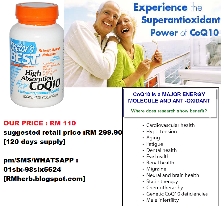 CoQ10 High Absorption  Doctor`s Best - Science-Based Nutrition