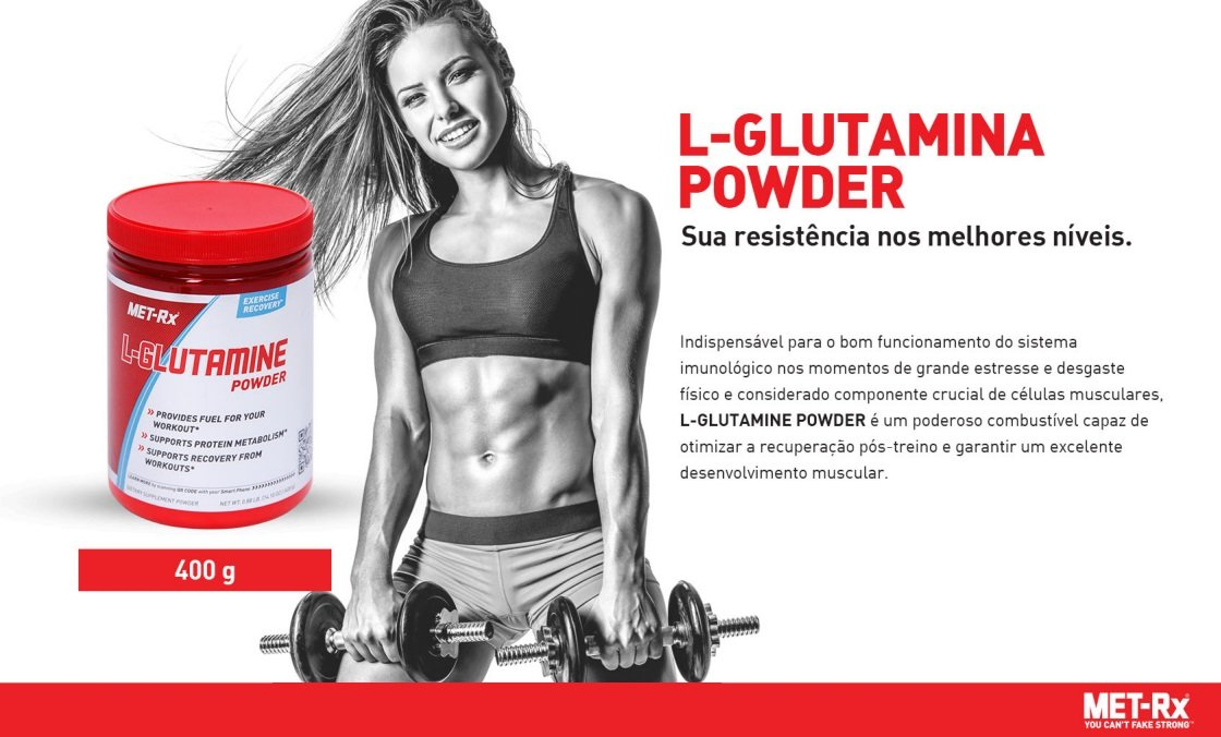 Glutamina Powder - (400g) - MET-Rx®