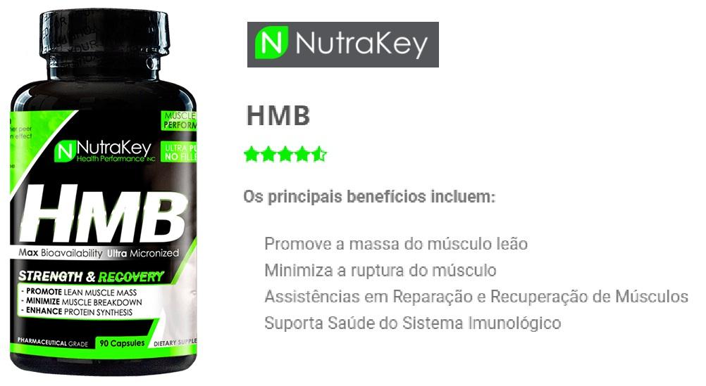 HMB 1000mg - (90Caps) - Nutrakey