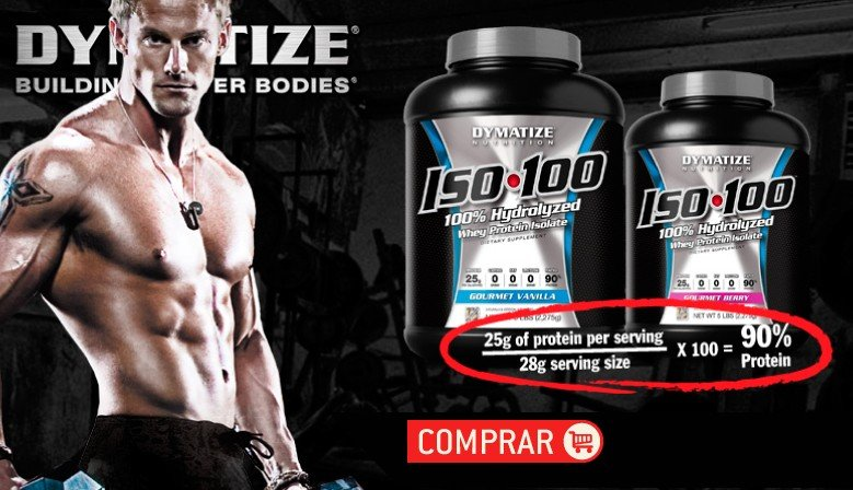 ISO 100 Whey Protein Isolado 100% Hidrolisado - Dymatize