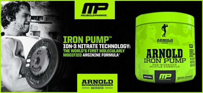 Iron Pump Arnold Schwarzenegger Serie (180g) - Pré-Treino Importado - MusclePharm