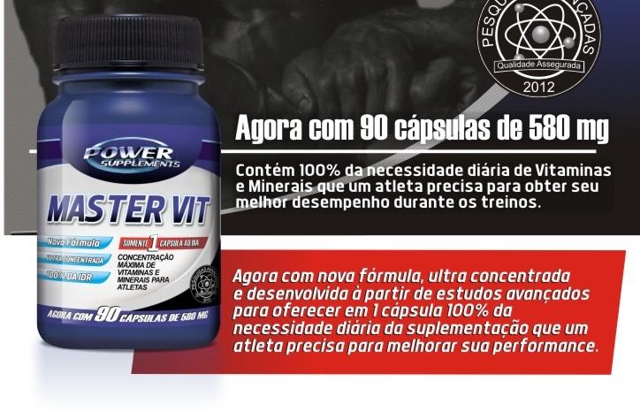 Master Vit - (90 caps) - Power Supplements
