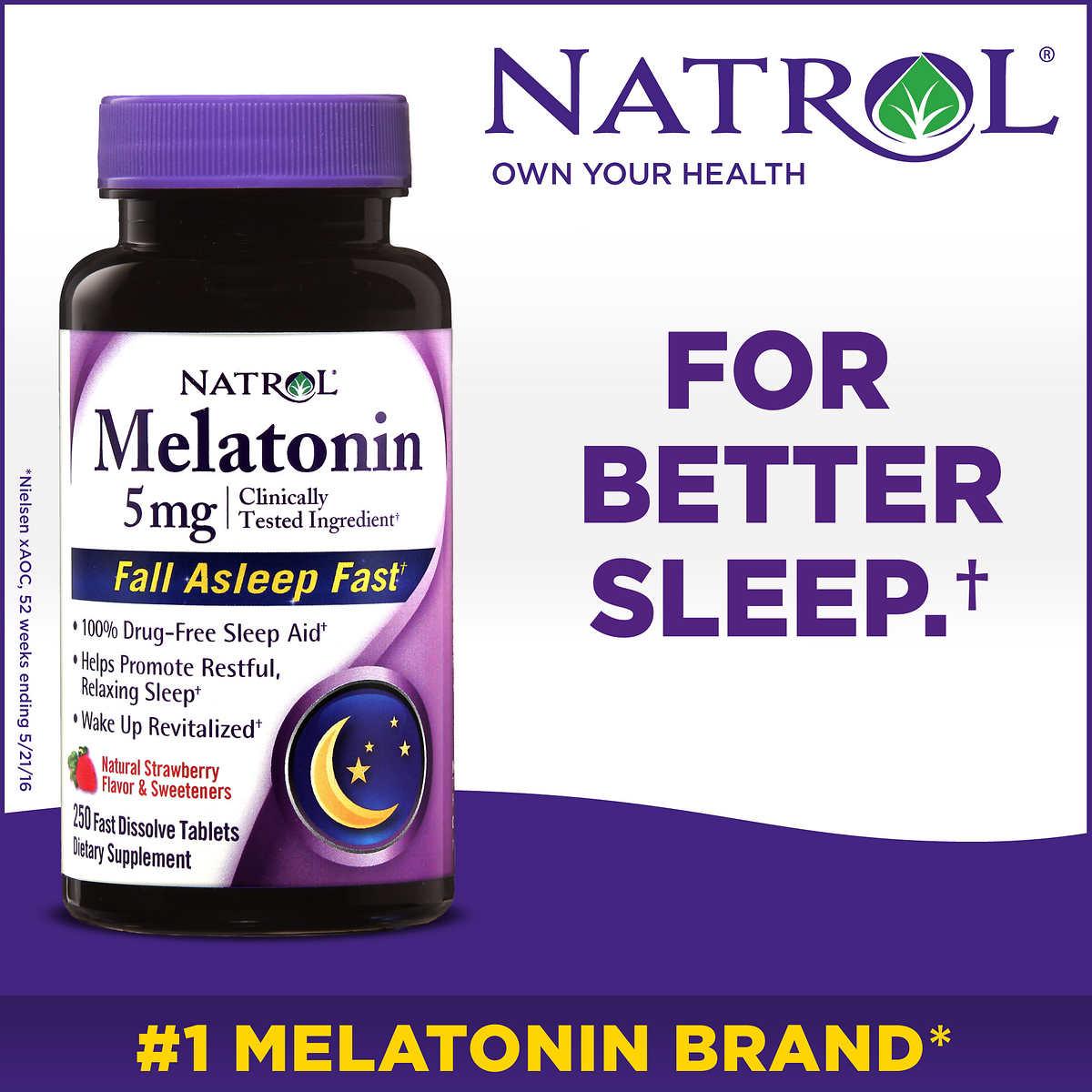 Melatonina - Fast Dissolve - Sublingual - Natrol