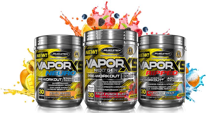 Pré treino Vapor X5 Next Gen (30 doses ) - Muscletech