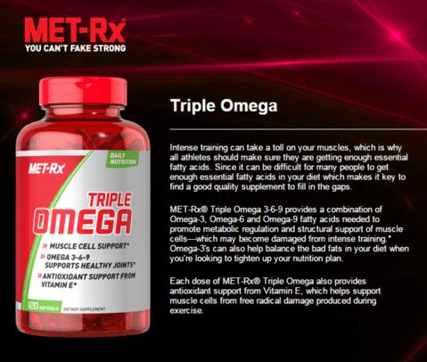 Triple Omega 3-6-9 - (120 Caps) - Met-Rx