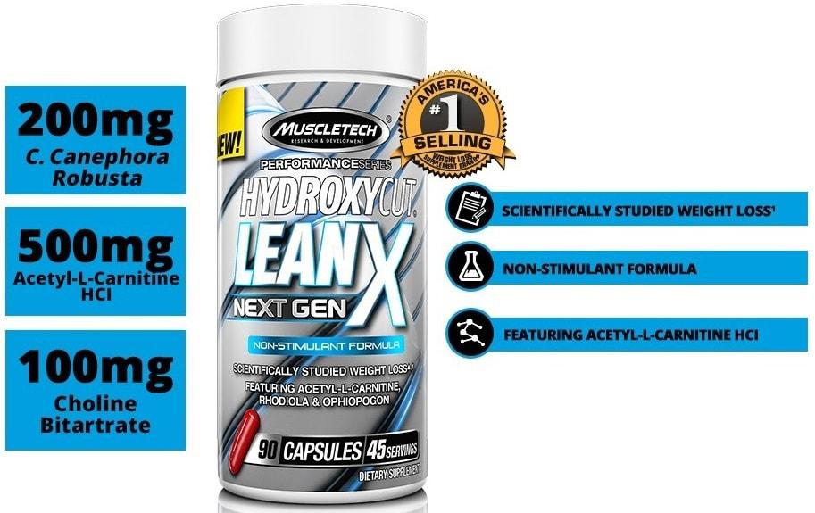 Hydroxycut LeanX - Next Gen - Termogênico - (90 caps) -  Muscletech