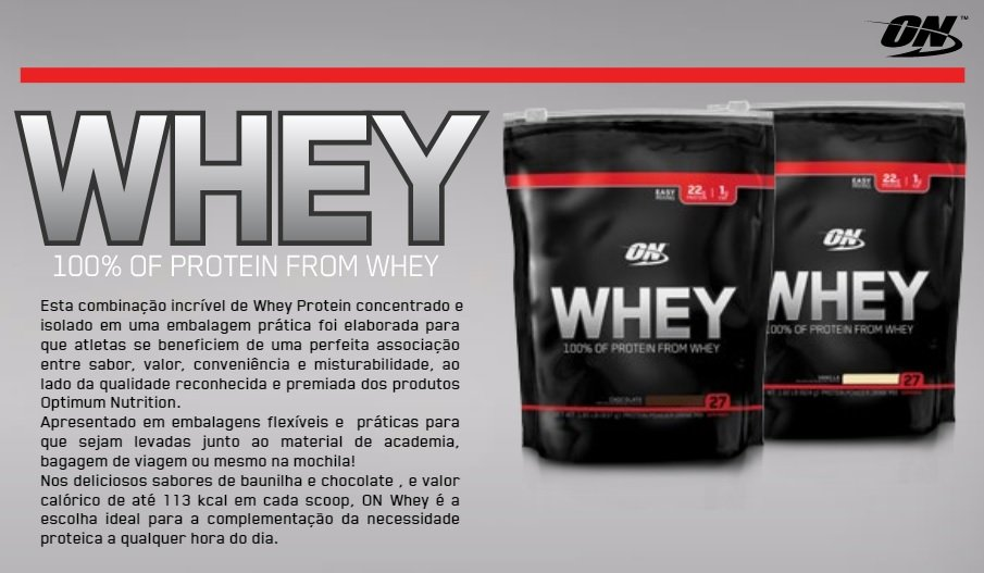 ON Whey 100% Protein (824g) - Optimum nutrition