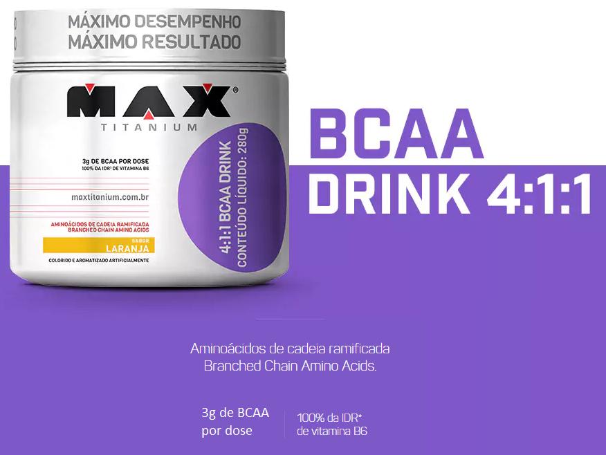 TopWay Suplementos - bcaa 4:1:1 drink - max titanium - tabela nutricional