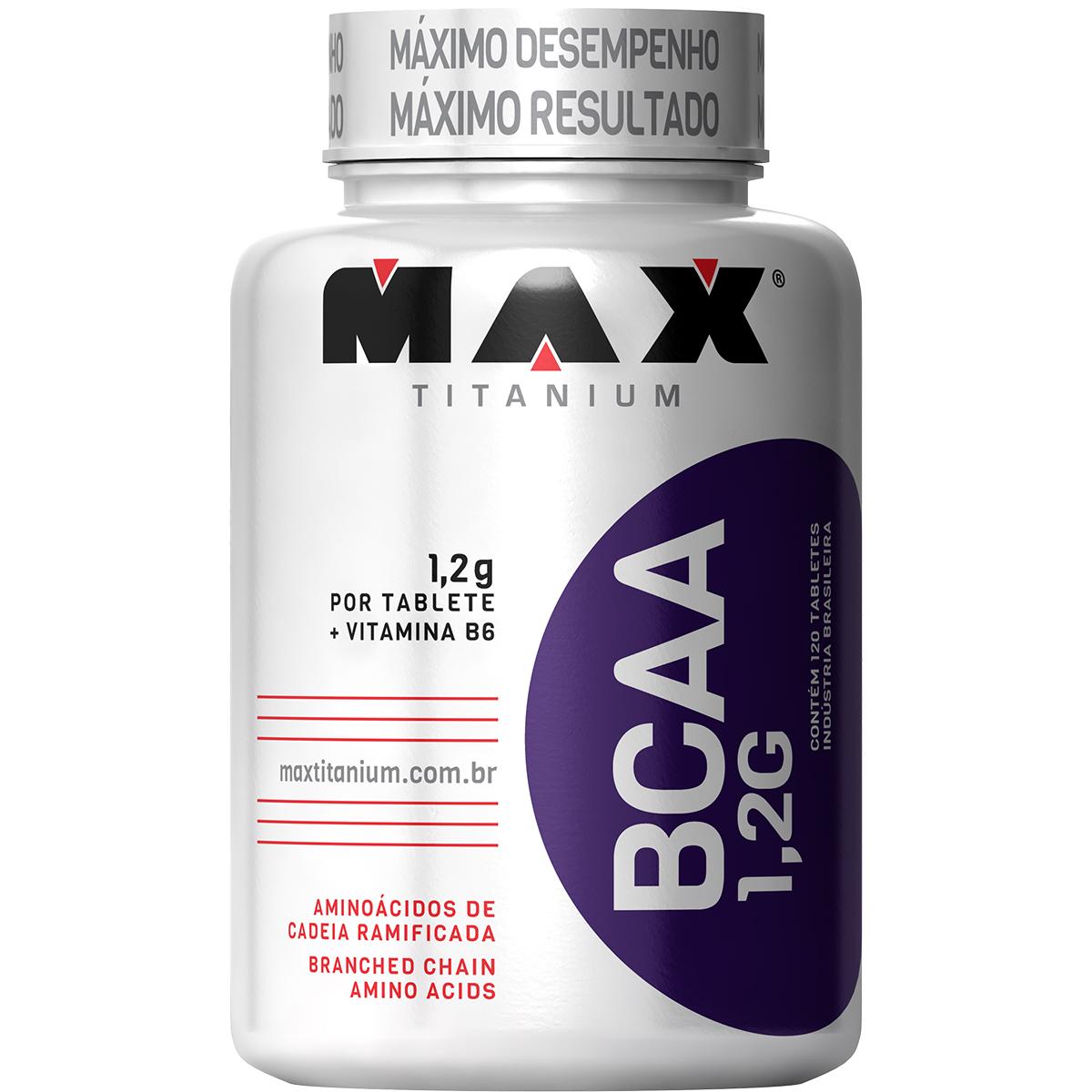 TopWay Suplementos - Bcaa 1.2g 120 tabs - max titanium