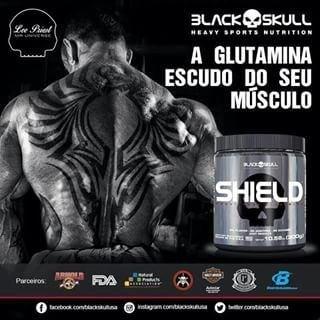 TopWay Suplementos - Glutamina Shield 300g - Black Skull