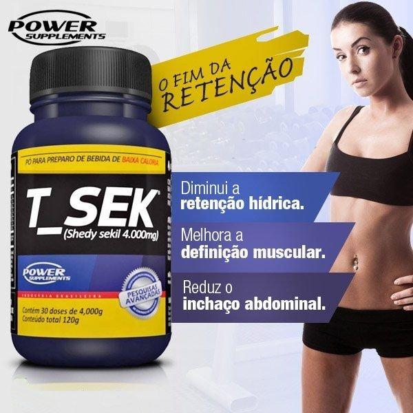 TopWay Suplementos - Sineflex e T-Sek - Power Supplements - Descrição T-Sek