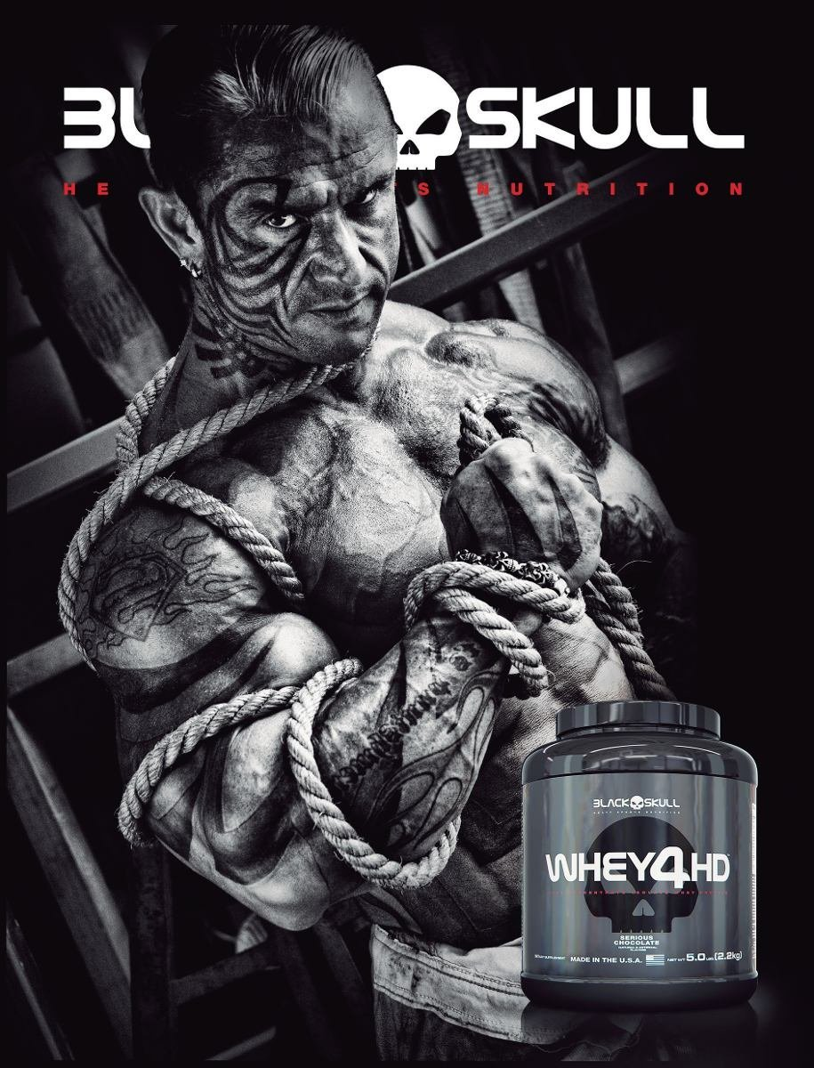 TopWay Suplementos - Whey 4HD 907g – Black Skull