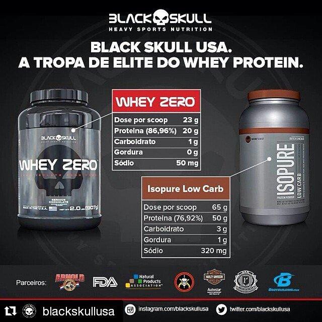 TopWay Suplementos - Whey Zero - BlackSkull x Isopure - Perfect Labs