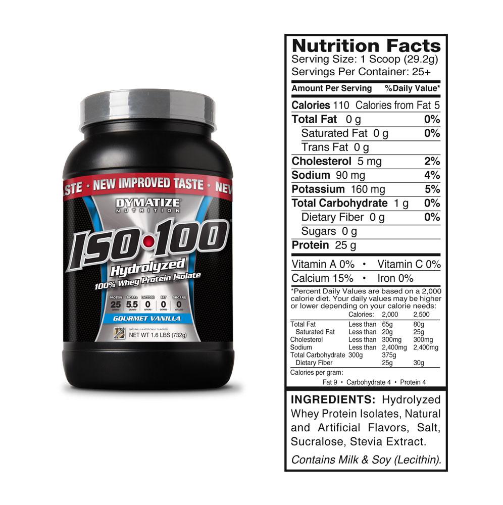 TopWay Suplementos - ISO 100 Whey Protein Isolado 100% Hidrolisado - tabela nutricional