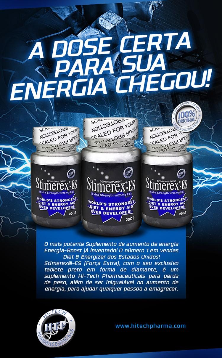 TopWay Suplementos -Stimerex-ES (90 cápsulas) - Hi-tech -Tabela Nutricional