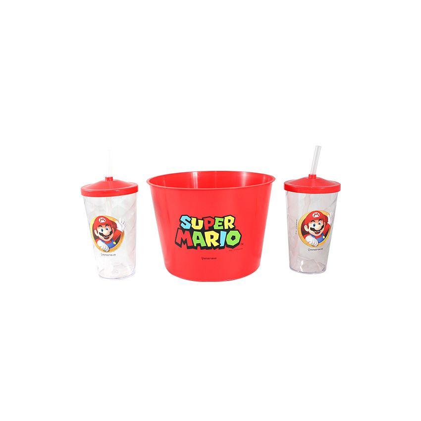 dcdd5444909749 Kit Almofada Porta Pipoca Mario Bros - A loja geek com produtos nerd ...
