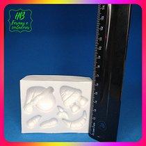 Molde silicone Papai Noel Boneco de Neve 3D