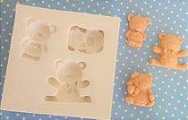 Molde silicone Ursinhos (Ideal p docinhos e trufas) Aplique