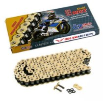 Corrente Cz Chains SDZZ 525 X'ring 124 elos - Africa Twin / Tiger 800