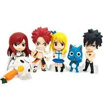 Fairy Tail Coleção - Natsu, Erza, Happy, Lucy, Gray - MugenMundo