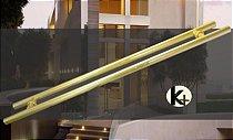 Puxador Tubular H - 1m - Dourado