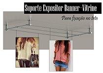 Suporte Expositor Banner - Vitrine