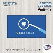 Cartão de Visitas para DENTISTA - DEN002 1000UN COM VERNIZ LOCALIZADO