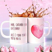 Caneca dia das mães - Amor, carinho e um cafézinho