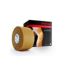 Bandagem Adesiva Vitaltape Rígida Rayon Bege