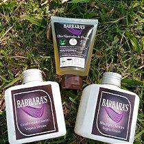 Kit shampoo, condicionador e óleo vegano 30ml