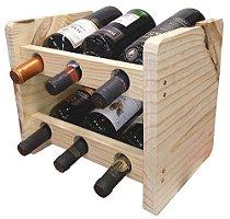 Adega em madeira - 6 garrafas