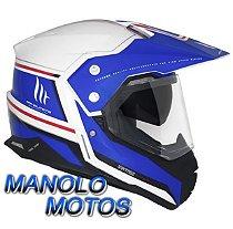 Capacete MT Duo Sport SV Vintage (Azul)