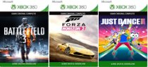 Combo Battlefield 3 + Forza Horizon 2 + Just Dance 2018 Xbox 360 Game Digital Xbox Live